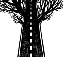 Road and tree Sticker