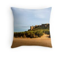 Bamburgh Castle, Northumberland, UK Throw Pillow