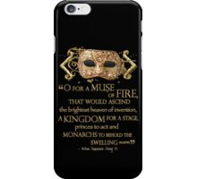 Shakespeare Henry V Muse Quote iPhone Case/Skin