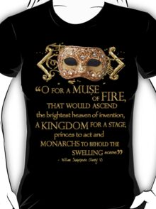 Shakespeare Henry V Muse Quote T-Shirt