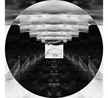 Inverted Square Circle Photographic Print