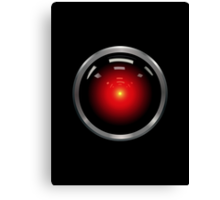 Inspired by 2001: A Space Odyssey - HAL 9000 Canvas Print