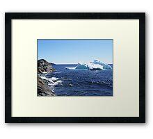 Iceberg...at the beach Framed Print