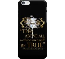"""Shakespeare Hamlet """"own self be true"""" Quote iPhone Case/Skin"""
