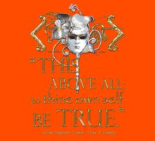 "Shakespeare Hamlet ""own self be true"" Quote Kids Clothes"