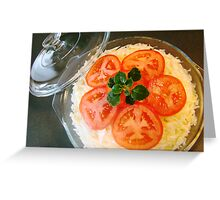 Cabbage salad Greeting Card