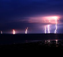 Lightning, Isle of Wight UK by flaggy