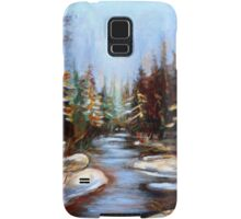 BEST SELLING CANADIAN PRINTS AND PAINTINGS WINTER LANDSCAPE TREES AND WATER BY CANADIAN ARTIST CAROLE SPANDAU Samsung Galaxy Case/Skin