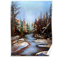 BEST SELLING CANADIAN PRINTS AND PAINTINGS WINTER LANDSCAPE TREES AND WATER BY CANADIAN ARTIST CAROLE SPANDAU Poster