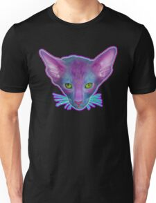 Green Eyed Cat With Pink Ears Unisex T-Shirt