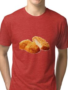 Chicken nugget Tri-blend T-Shirt