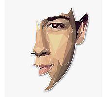Nick Jonas Polygon Portrait Photographic Print