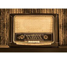 Old radio. Front view Photographic Print