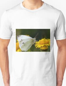Small White Butterfly Unisex T-Shirt