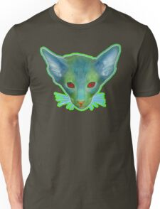 Little Cat With Red Eyes and Green Face Unisex T-Shirt