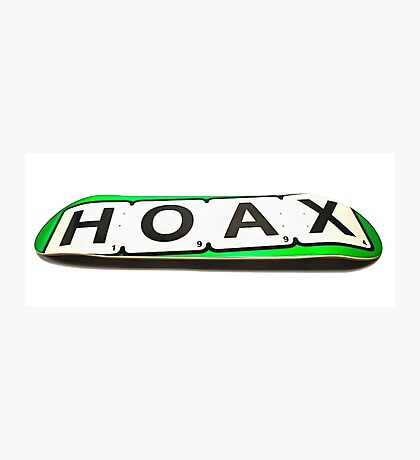 hoax skateboard Photographic Print