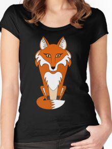 STARING FOX Women's Fitted Scoop T-Shirt