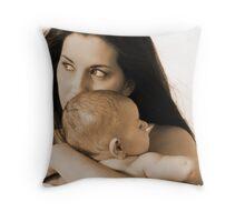 Mother&Son Throw Pillow