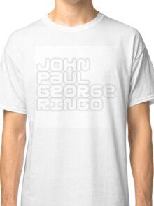 John Paul George Ringo_White Album Classic T-Shirt