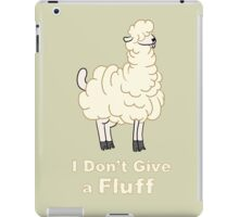 I Don't Give a Fluff iPad Case/Skin