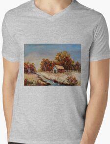 BEST SELLING CANADIAN LANDSCAPE PAINTINGS BY CANADIAN ARTIST CAROLE SPANDAU Mens V-Neck T-Shirt