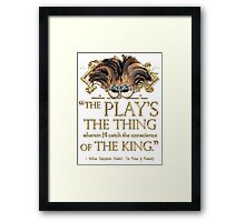 Shakespeare Hamlet Play Quote Framed Print