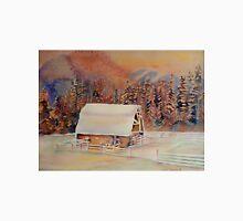 BEAUTIFUL CANADIAN WINTER LANDSCAPES BEAUTIFUL SKIES SNOWSCENE PAINTING Unisex T-Shirt