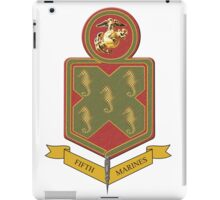 Fifth Marines Crest iPad Case/Skin