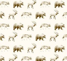Wild Pattern // Brown by Amy Hamilton