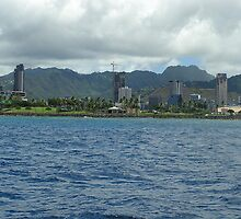 View of Waikiki, Hawaii by stacey25