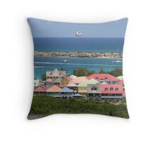 St. Maarten, French Side Throw Pillow