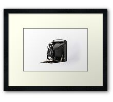 Antique Accordion Camera Framed Print