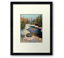BEAUTIFUL WINTER BROOK BEST SELLING CANADIAN PAINTINGS AND PRINTS BY CANADIAN ARTIST CAROLE SPANDAU Framed Print