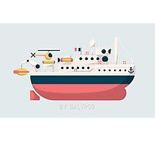 Minimalist Jacques Cousteau's Research Vessel Calypso Photographic Print