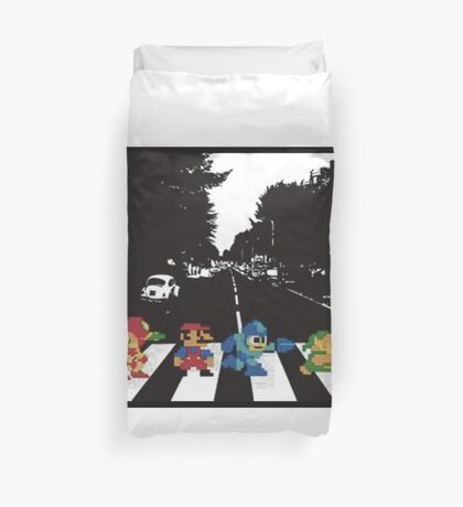 Nintendo Sprites on Abbey Road Duvet Cover