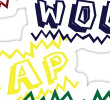 Action Words Sticker
