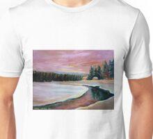 CABIN RETREAT CANADIAN ART CANADIAN PAINTINGS BEST SELLING WINTER SCENE BY CANANDAIN ARTIST CAROLE SPANDAU Unisex T-Shirt