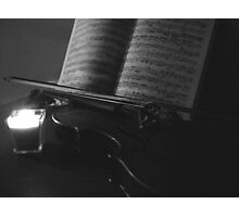 Candlelit Violin Photographic Print