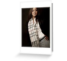 Burberry Scarf Greeting Card
