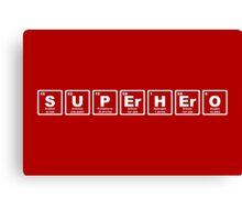 Superhero - Periodic Table Canvas Print