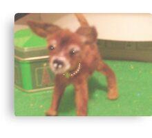 "chihauhau 3"" pup miniature faux fur little ""JOEY"" made for ebay Canvas Print"
