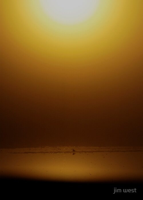 Hazy sunrise by jim west