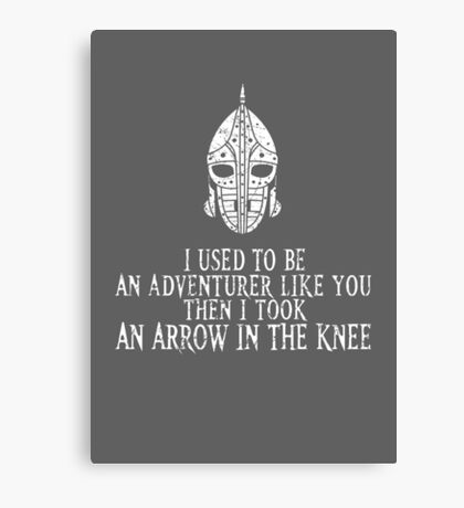 Skyrim - Arrow in the Knee Canvas Print
