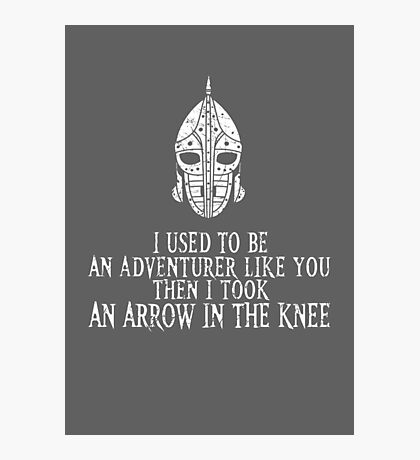 Skyrim - Arrow in the Knee Photographic Print