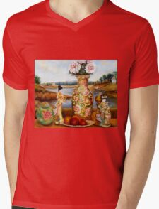 BEAUTIFUL STILL LIFE PAINTINGS AND PRINTS BY CANADIAN ARTIST CAROLE SPANDAU Mens V-Neck T-Shirt