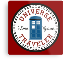 Doctor Who Converse Time Traveller Metal Print