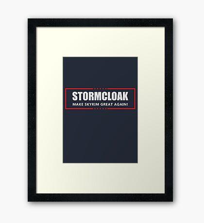 Make Skyrim Great Again Framed Print