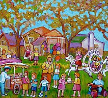 BEST SELLING CHILDREN'S PRINTS AND PAINTINGS HAPPY SCENE FOR CHILD BY CAROLE SPANDAU by Carole  Spandau
