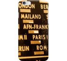 Radio station frequency scale iPhone Case/Skin