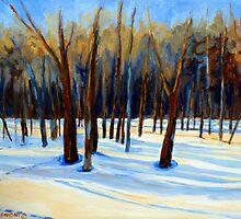 WINTER SCENE LANDSCAPE CANADIAN ART PAINTINGS by Carole  Spandau
